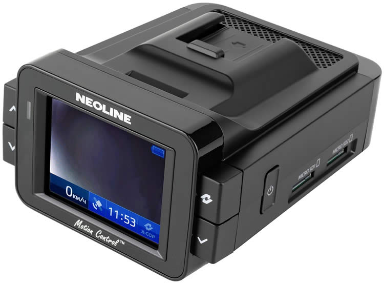 Neoline X-COP 9100s review.  A hybrid of a video recorder and a radar detector.