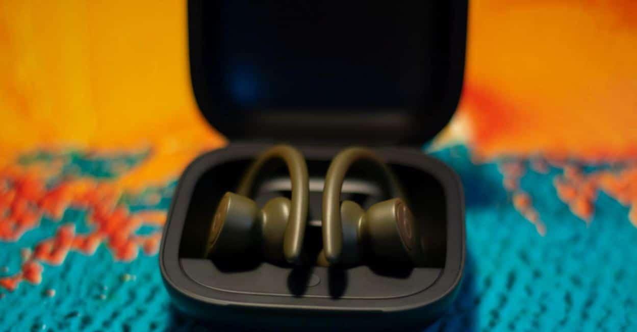 Beats PowerBeats Pro headphones in carrying case