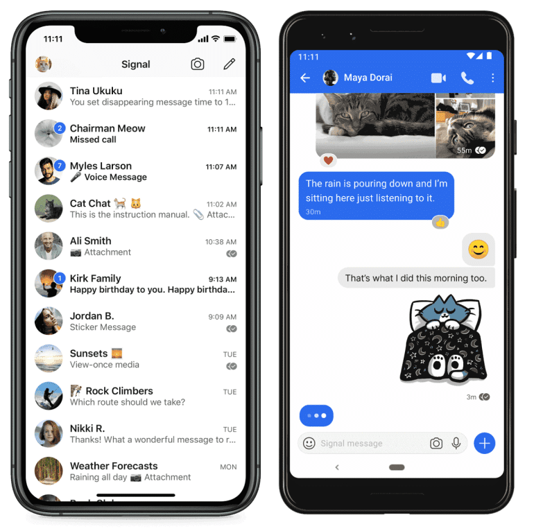 Signal: features of the messenger praised by Elon Musk and Jack Dorsey