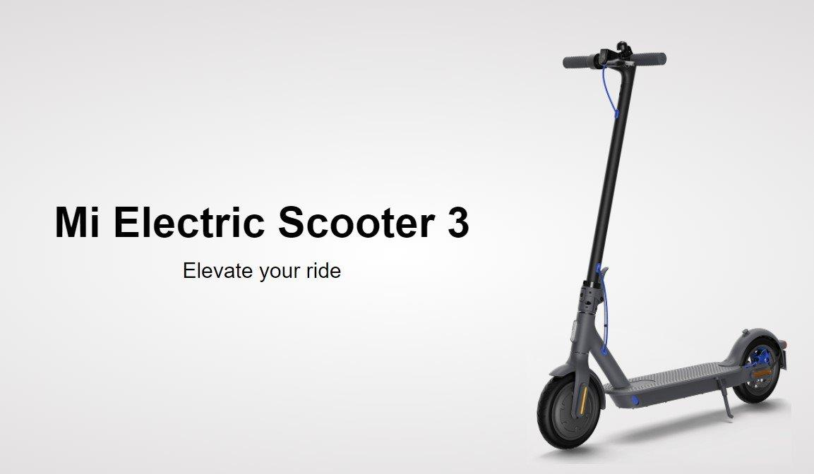 Xiaomi has released several new products to the global market (mi electric scooter 3)