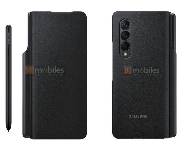 Samsung Galaxy Z Fold 3 will receive a special case with a place for the stylus (fold2)